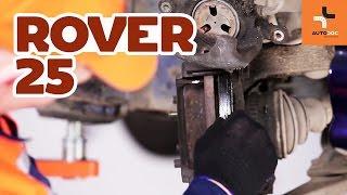 Instalación Pastilla de freno ROVER 25 (RF): vídeo gratis