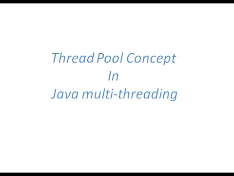 Thread Pool Concept in Java MultiThreading with an example - YouTube