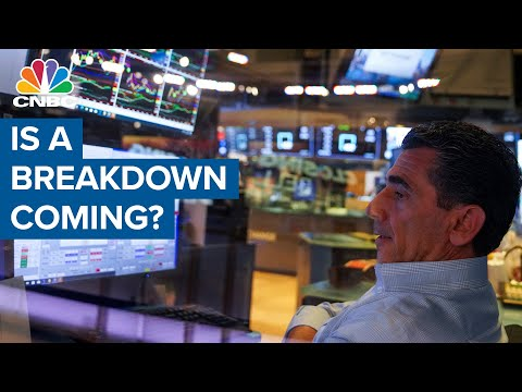 The Chartmaster sees trouble in the chart -  Is a breakdown coming?