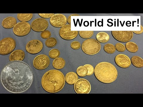 Silver Foreign Coins Picked Up at Coin Show