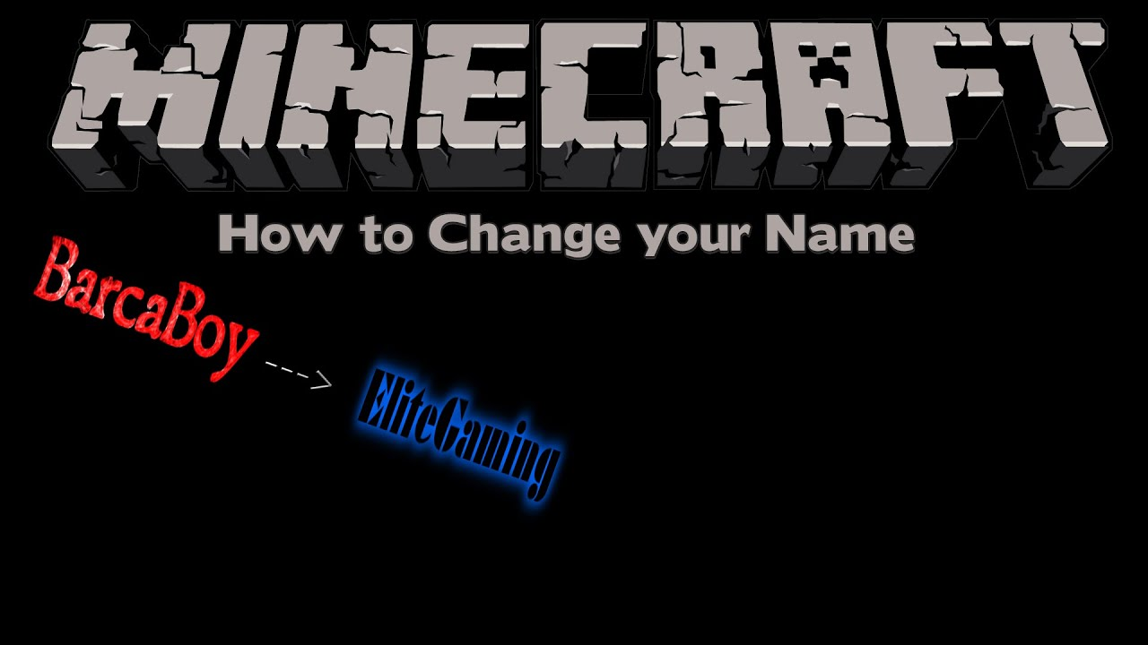 How to Change your Name in Minecraft - YouTube