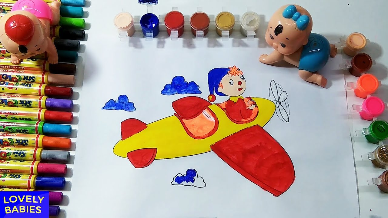 Learn Colors With Noddy Drawing And Coloring Pages Water Color