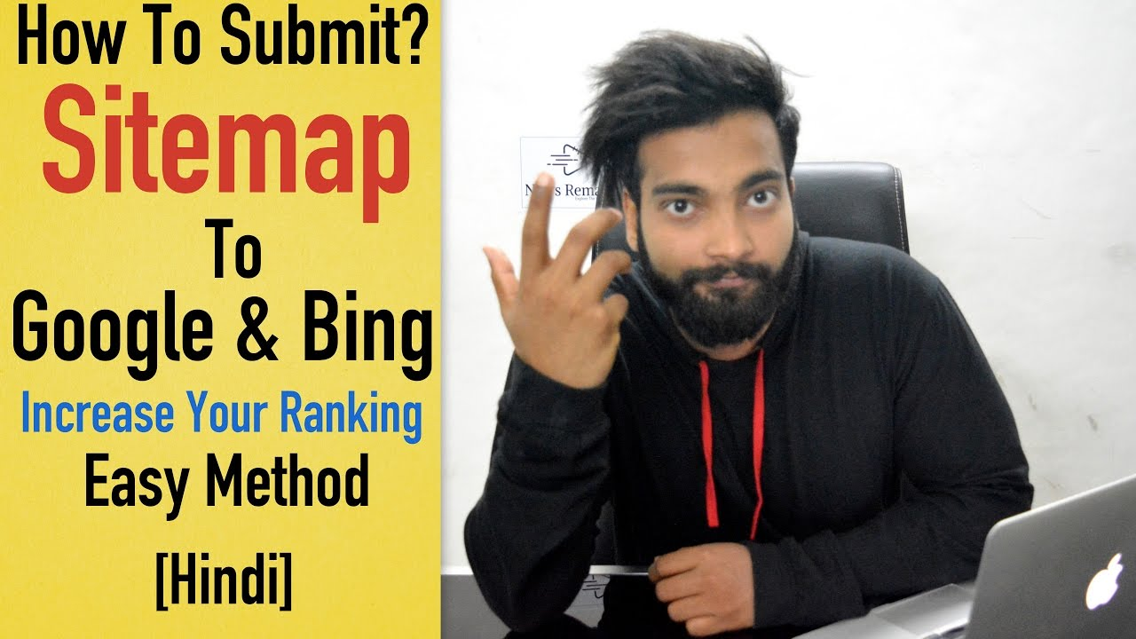 how to generate and submit sitemap to google bing hindi youtube