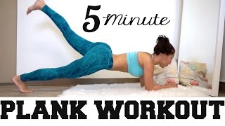 4 Minute Plank Workout - Smaller waist from home!