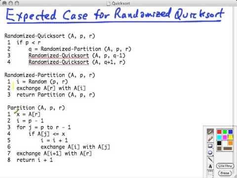 Topic 10 B Quicksort Random Analysis