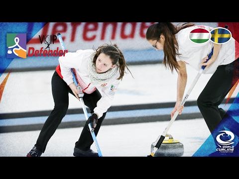 Hungary v Sweden (Women) - VoIP Defender World Junior Curling Championships 2017