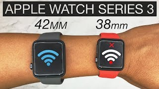 Apple Watch ⌚️Series 3 Review [38mm vs 42mm] | Battery Life | 38mm WiFi Issue? 4K