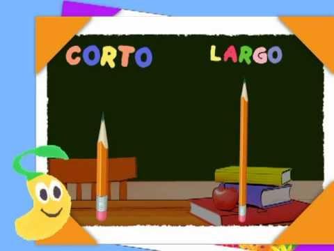 Opuestos Corto Y Largo Canal Semillitas Videos Para Bebes Y Preescolares