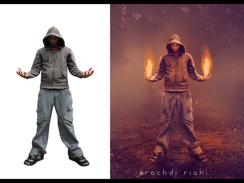 How to Make the impact of fire manipulation in Photoshop