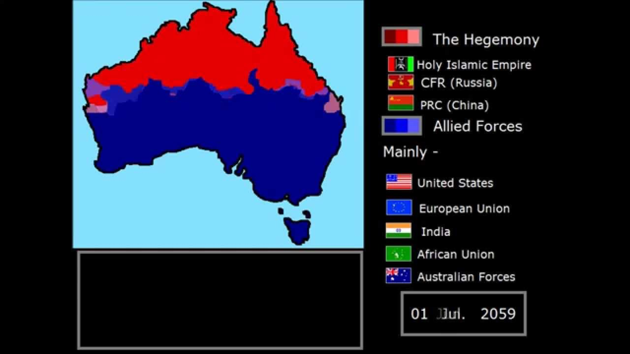 Fictional Shattered Citael - World war 3 Hegemony Invasion of Australia