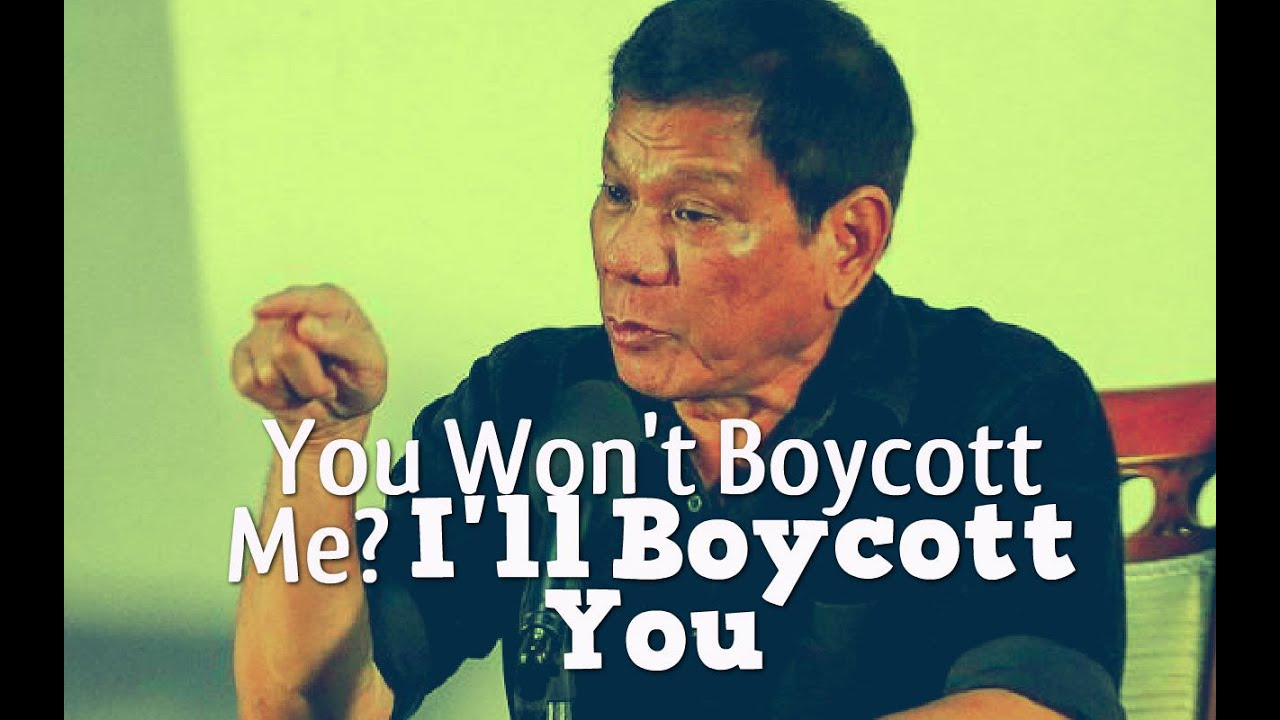 Duterte Latest News - Boycott Me - Mayor Duterte Dared Media