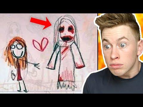 Die gruseligsten Kinder-Zeichnungen der Welt !! 😳😱😨