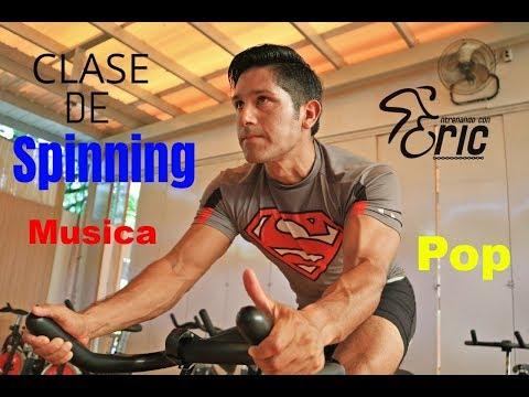 Clase Completa de Spinning INTERVALOS Con música POP