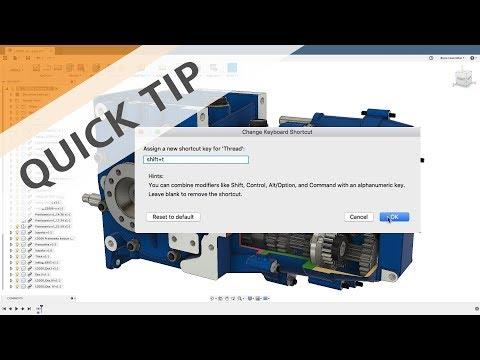 Quick Tip: Custom Keyboard Shortcuts - Fusion 360 Blog