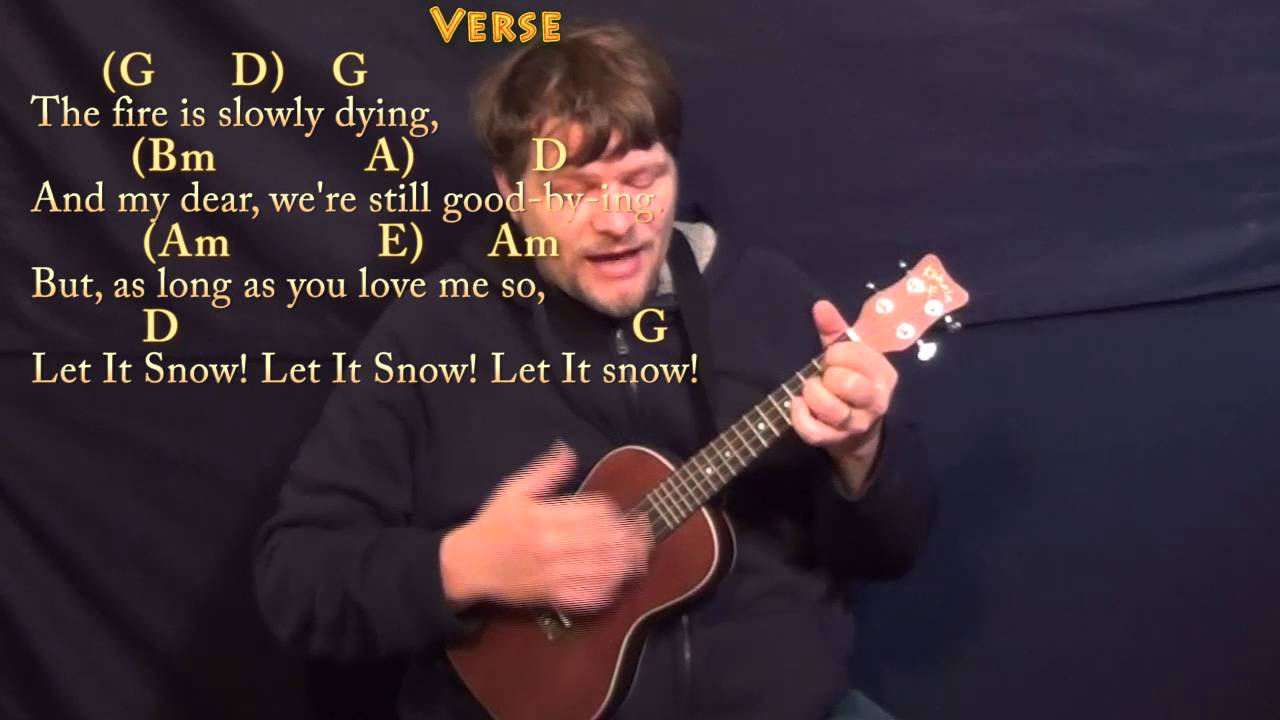 Let It Snow Ukulele Cover Lesson In G With Chordslyrics Youtube