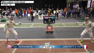 2018 163 M S Individual Gyoer HUN World Cup T16 07 red DERSHWITZ USA vs ANSTETT FRA