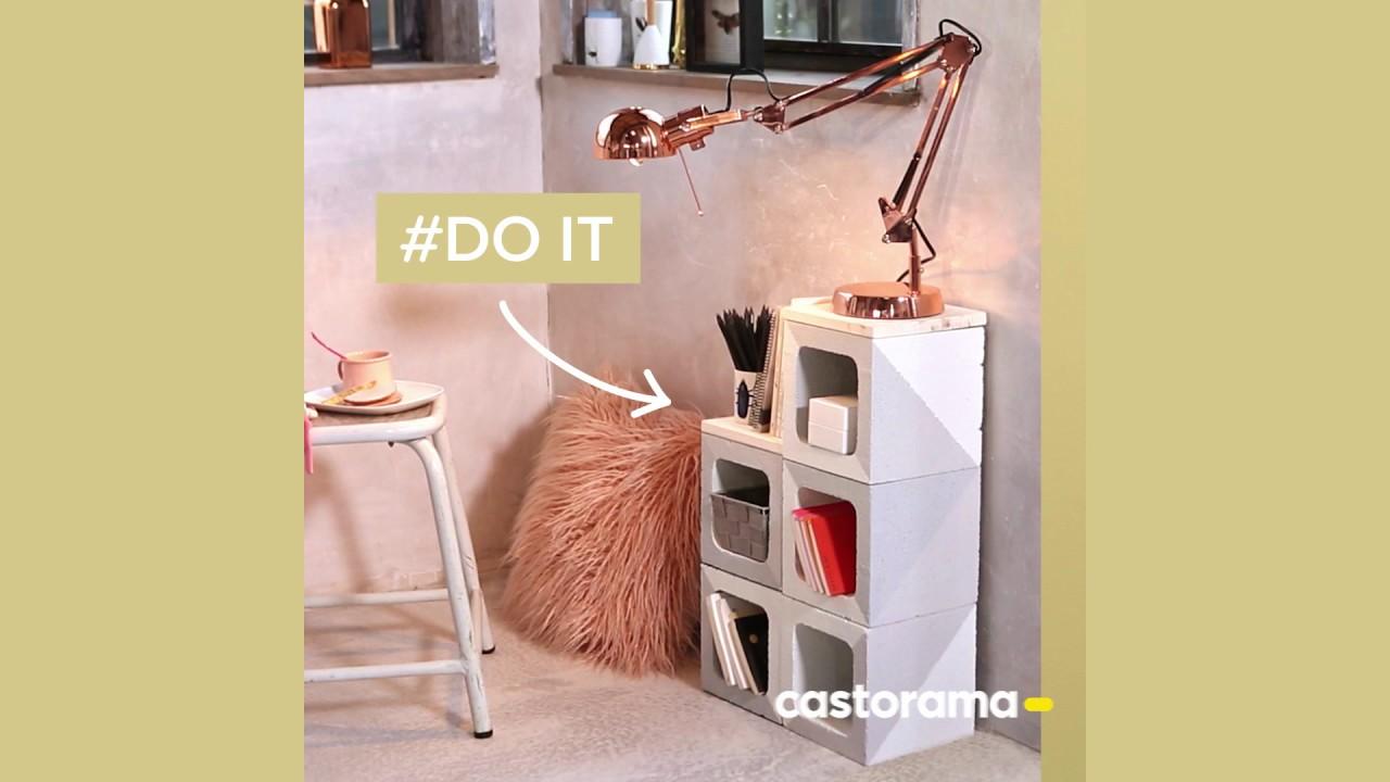 Table Basse Avec Parpaing diy : fabriquer un meuble avec des éléments de pilier - castorama