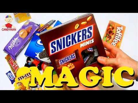 New a lot of candy man , new candy magic for kids