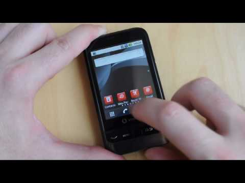 Vodafone 845 com Android 2.1: Interface