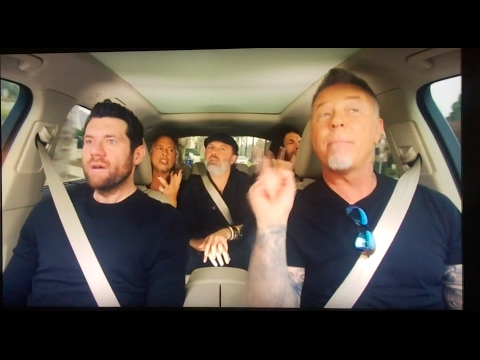 Metallica on Carpool Karaoke Commercial