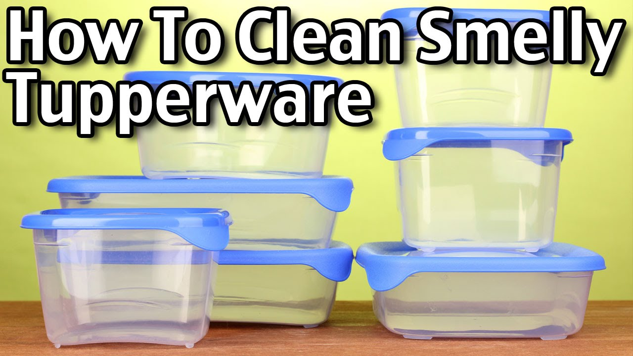 How To Clean Smelly Tupperware Youtube