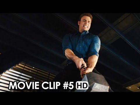 Avengers: Age of Ultron Movie CLIP #5 The Hammer Lift Competition (2015) HD