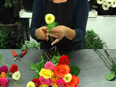 tuto - un bouquet de fleurs vitaminé - youtube