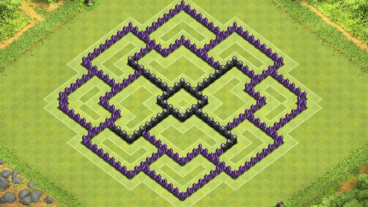 clash of clans town hall 8 defense (coc th8) best farming base