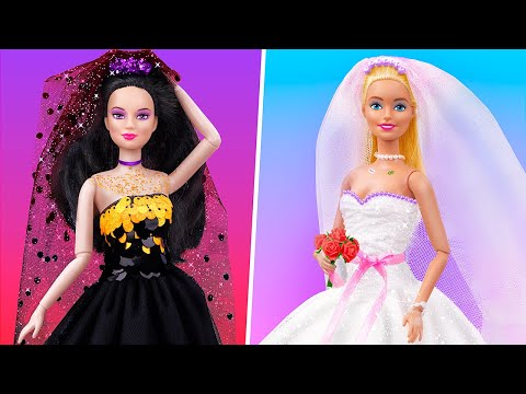 12 ไอเดียและเคล็ดลับ DIY ตุ๊กตาบาร์บี้ / ไอเดียงานแต่งงานตุ๊กตา