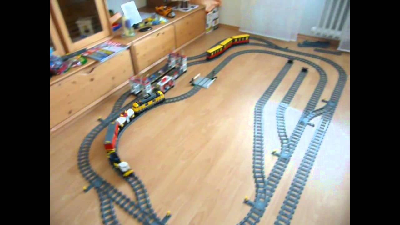 Lego Güterzug 7939 und Berliner S-Bahn auf großer Strecke