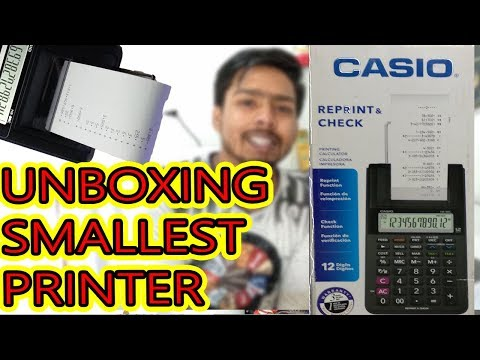 Unboxing The Printing Calculator The Next Generation Calculator Casio @Rs.1500 Only Best(Calculator)