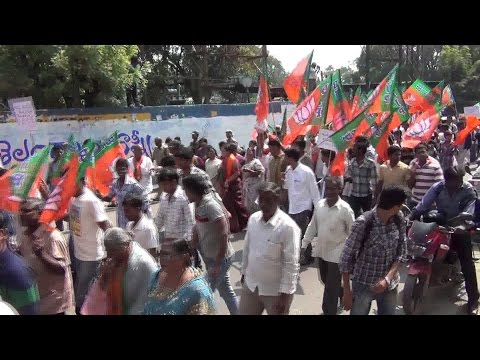 BJP's MLA Protest Against Law & Order in Kanpur