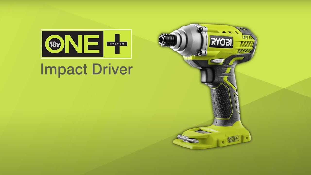 Ryobi One 18v Cordless Impact Driver Introduction R18idp