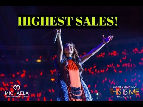 Sarah Geronimo concert has HIGHEST SALES OF FILIPINO CONCERT OF ALL TIME