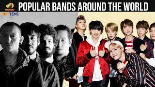 Top 10 Popular Bands Around The World   Rock Band   BTS   Linkin Park   Queen   Music   Bands 2019