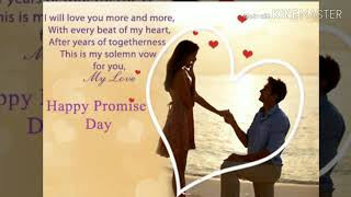 #11febHappy promise day// promise day status //happy promise day whatsapp video,images
