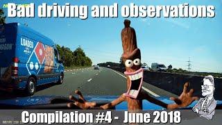 Bad Drivers UK : #4 - June 2018 Compilation