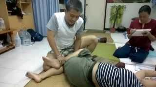 Thara Thai massage นวดแก้อาการปวดหลังที่มีอาการร้อนหลัง ช่วงเอว