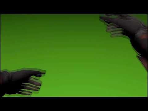 Футаж на зеленом фоне - Руки