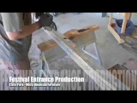 Sandpoint music festival entrance construction