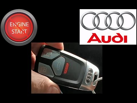 Audi key fob, post 2016, battery replacement