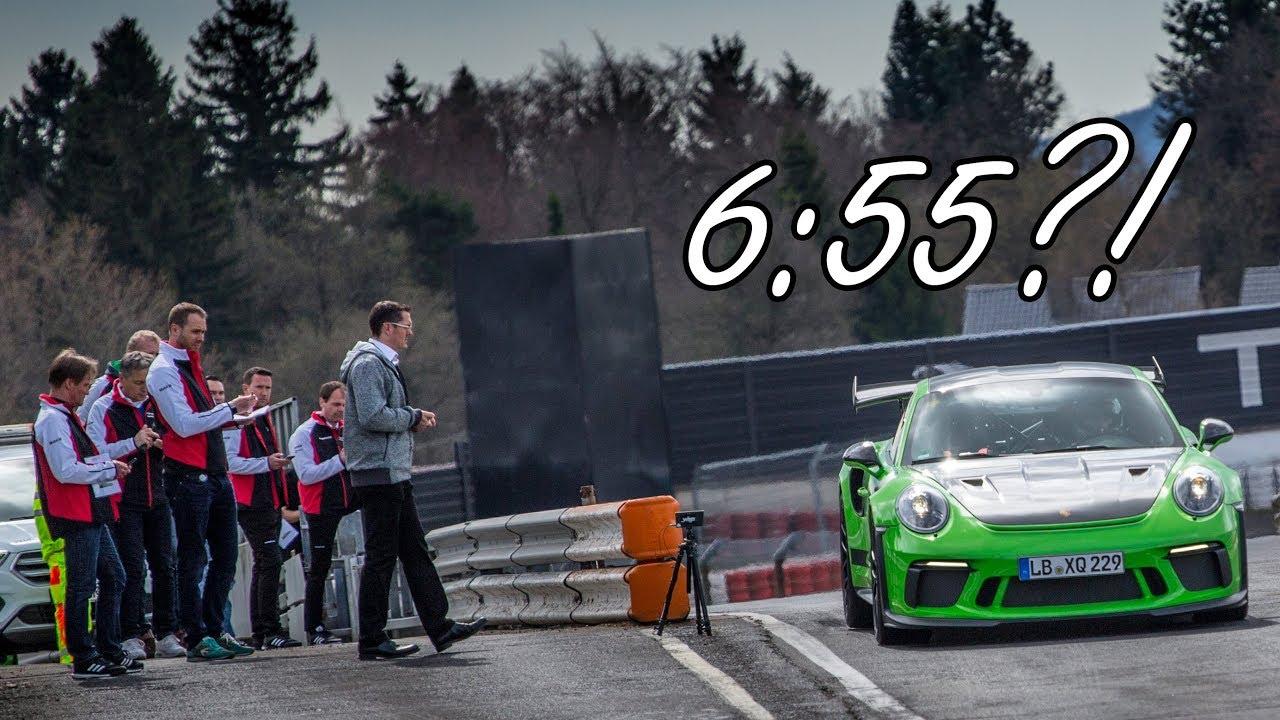 6:55?! NEW PORSCHE GT3 RS LAPS THE NÜRBURGRING