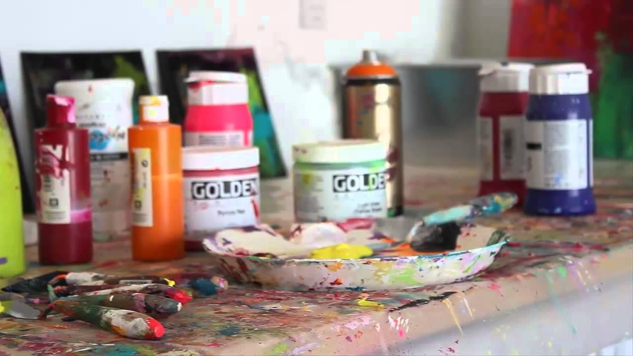 abstrakt maleri akryl