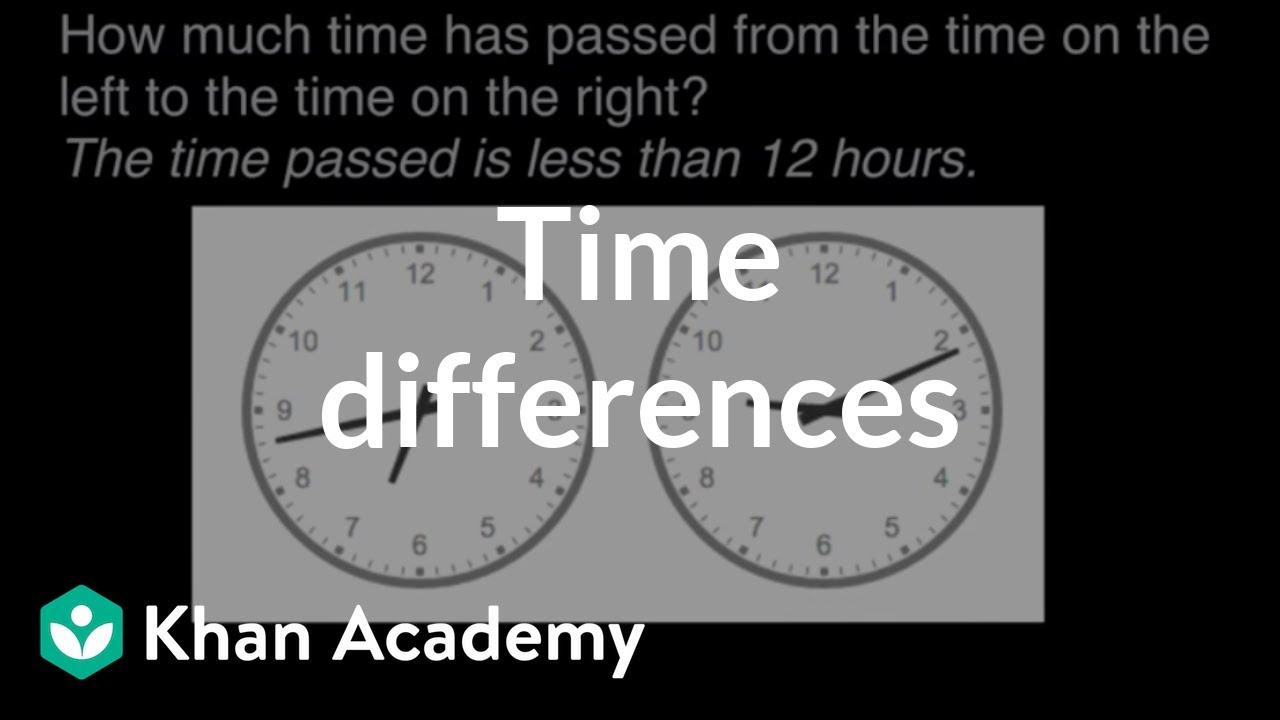 Time differences | Math | 3rd grade | Khan Academy - YouTube