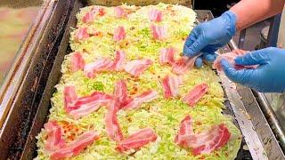 japanese street food - OKONOMIYAKI  ( kyoto style )