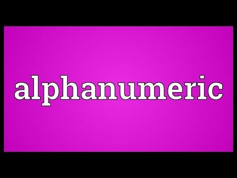 Alphanumeric Meaning