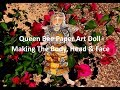 Queen Bee Paper Art Doll - Part 1 - Making the Body, Head & Face