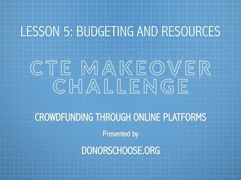 Crowdfunding Through Online Platforms presented by DonorsChoose
