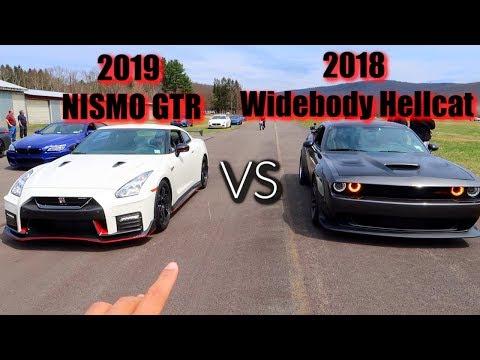2019 NISMO GTR VS 2018 Widebody Hellcat Challenger & JMCRIDES VS MOD2FAME