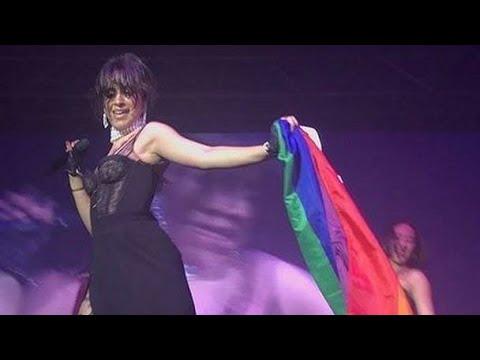 Camila Cabello + pride flag